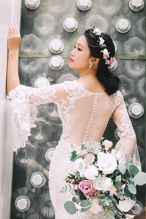 禮服出租,婚紗禮服工作室,新莊自助婚紗,手工婚紗,婚紗包套,魚尾白紗,水袖白紗,立體蕾絲白紗