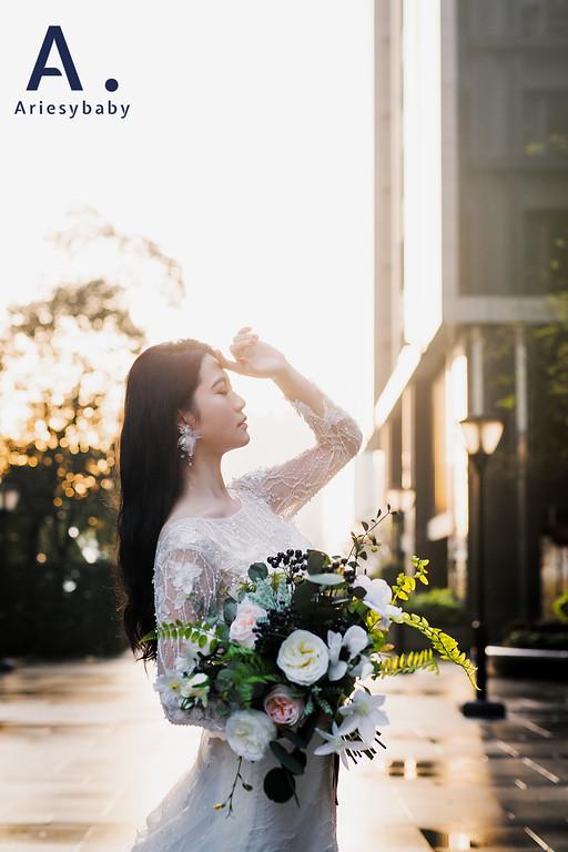 禮服出租,婚紗禮服工作室,新莊自助婚紗,手工婚紗,清新典雅風刺繡蕾絲貼花白紗