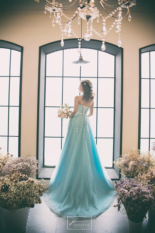禮服出租,婚紗禮服工作室,新莊自助婚紗,手工婚紗,夢幻華麗甜美粉藍色晚禮服