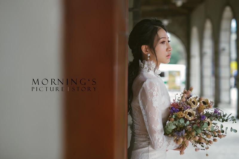 禮服出租,婚紗禮服工作室,新莊自助婚紗,手工婚紗,立領泡泡袖蕾絲魚尾白紗