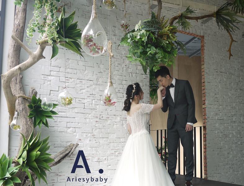 新莊婚紗,手工婚紗,Ariesy,清新甜美風婚紗,自然妝感,典雅手工婚紗,淡水莊園婚紗
