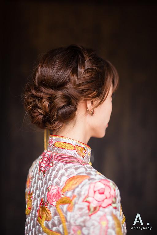 新娘造型,復古新娘造型,龍鳳掛造型,蓬鬆編髮造型,林安泰古厝