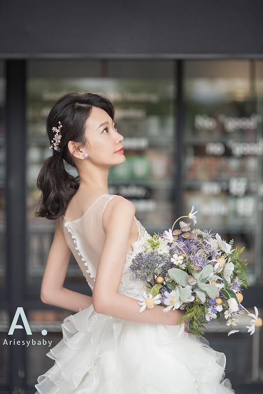 新莊自助婚紗,Ariesybaby造型團隊,ARIESY愛瑞思品牌訂製手工婚紗,聽葉子的聲音攝影團隊,韓風造型
