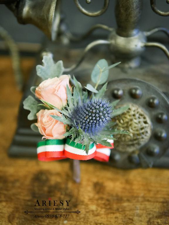 美式婚禮胸花,歐美胸花,主婚人胸花,新娘捧花,新郎胸花