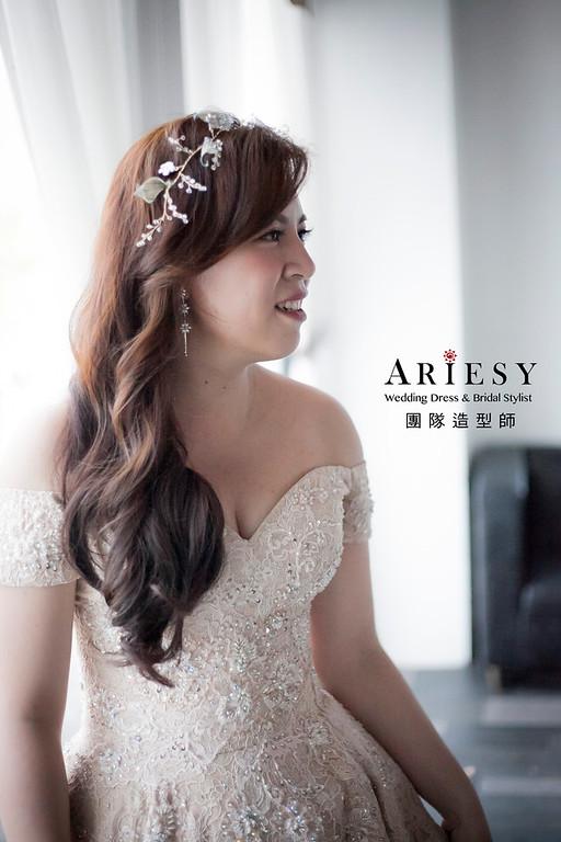 送客造型,蓬鬆編髮造型,新娘造型,桃園新祕,新娘祕書