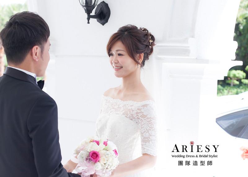 白紗造型,編髮造型,進場新娘髮型,新娘造型,盤髮造型,桃園新娘祕書