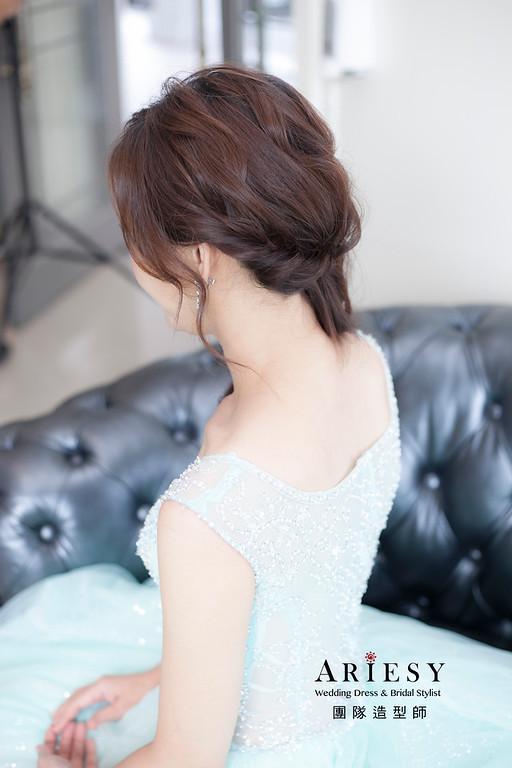 送客造型,蓬鬆編髮造型,新娘造型,新祕,桃園新娘祕書,放髮造型