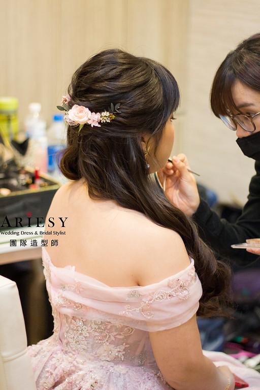 桃園新娘秘書,新秘造型,黑髮造型,文定造型,龍鳳掛造型