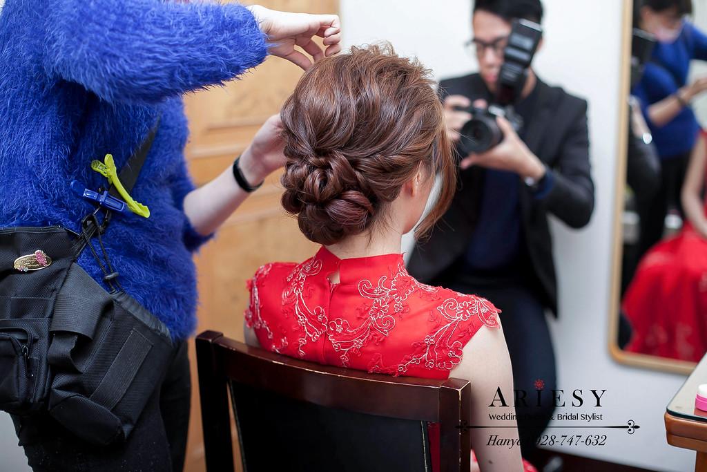 文訂新娘造型,桃園新秘,新秘推薦,蓬鬆編髮造型,旗袍造型