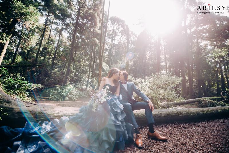 禮服出租,新莊自助婚紗,手工婚紗,婚紗包套,多層次魚尾,經典藍晚禮服