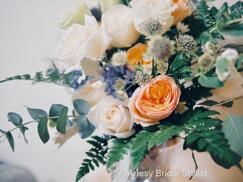 歐美捧花,新娘捧花,白玫瑰捧花,奧斯汀捧花,Bridal bouquet