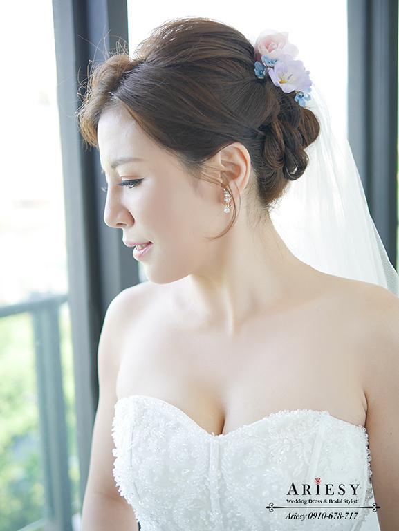 歐美新秘,白紗造型,混血兒妝感,台北新秘,新娘秘書,新秘