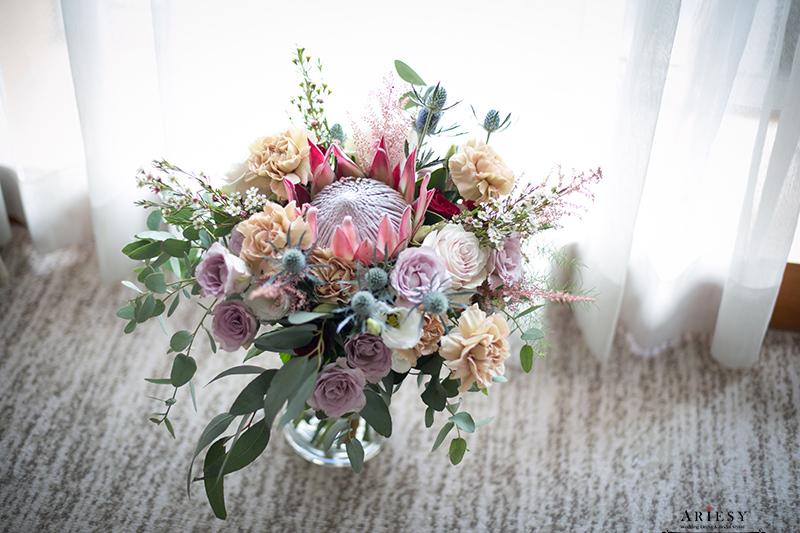 Bouquet of flowers,ariesy捧花,新娘秘書美式手作捧花,莫蘭迪色歐美風捧花,愛瑞思,Bridal bouquet