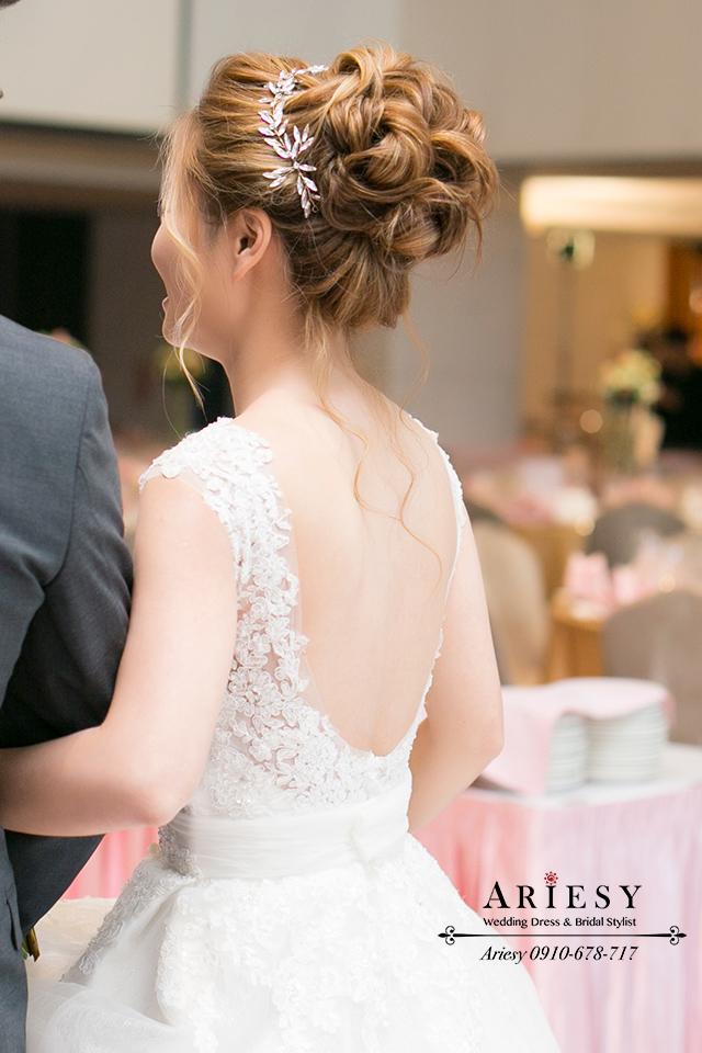 白紗造型、新娘秘書、歐美風新秘、新娘髮型、新秘