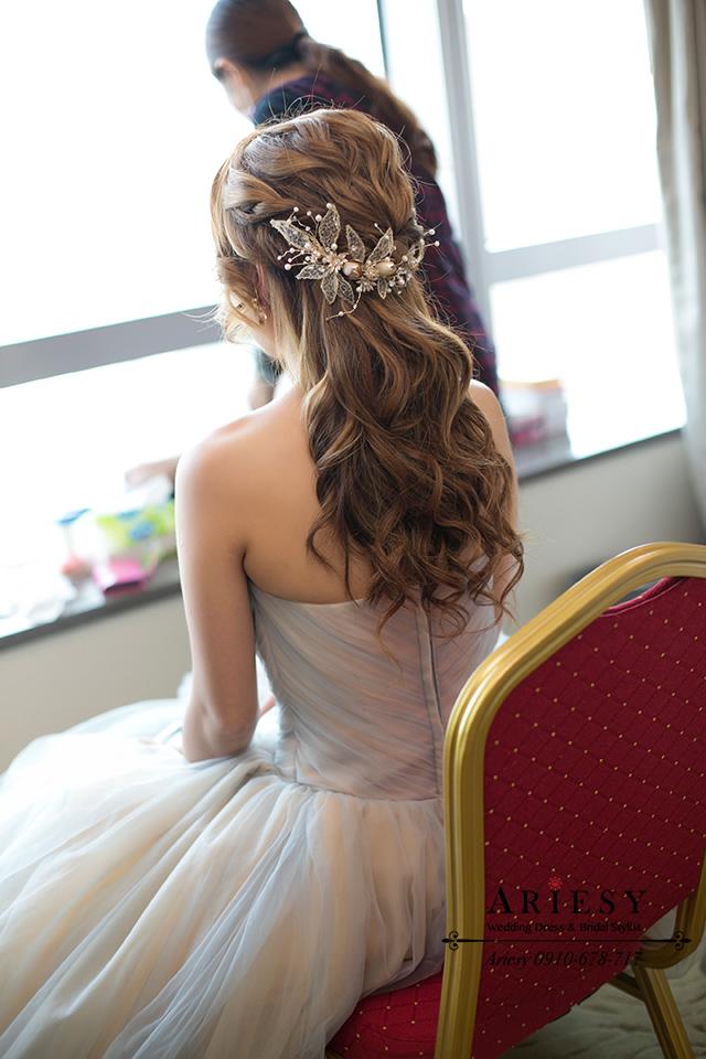 公主頭造型、新娘秘書、歐美風新秘、新娘髮型、新秘