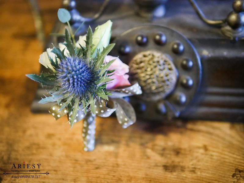 美式婚禮胸花,粉紅色胸花,主婚人胸花,新娘捧花,新郎胸花,buffet婚禮