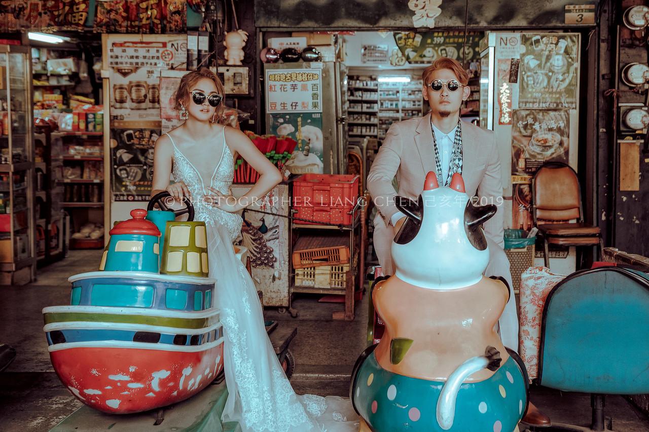 《婚紗》Rania & Wilson / 棚內、水中婚紗、柑仔店