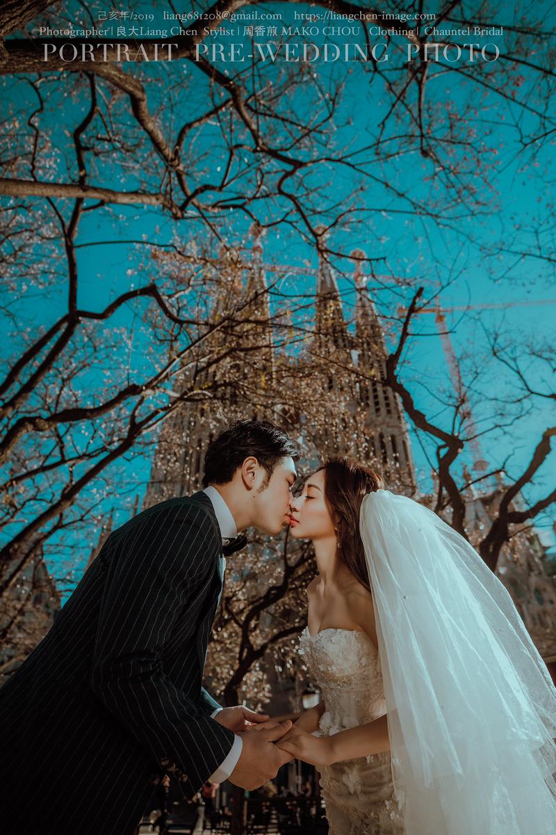 《海外婚紗》Sean & Vanessa / 西班牙、巴塞隆納、加泰隆尼亞音樂宮 Palau de la Musica Catalania