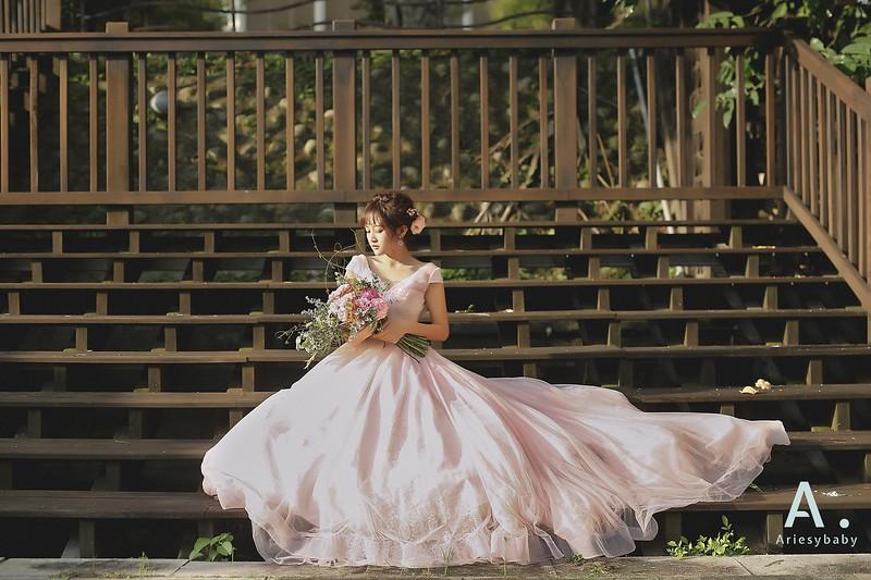 美式婚紗,短髮新娘,婚紗造型,新娘捧花,新娘髮型