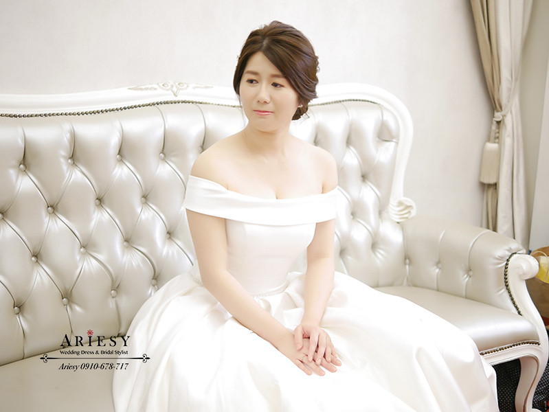 新娘秘書,新秘,台北新秘,短髮新娘,韓風盤髮,愛瑞思