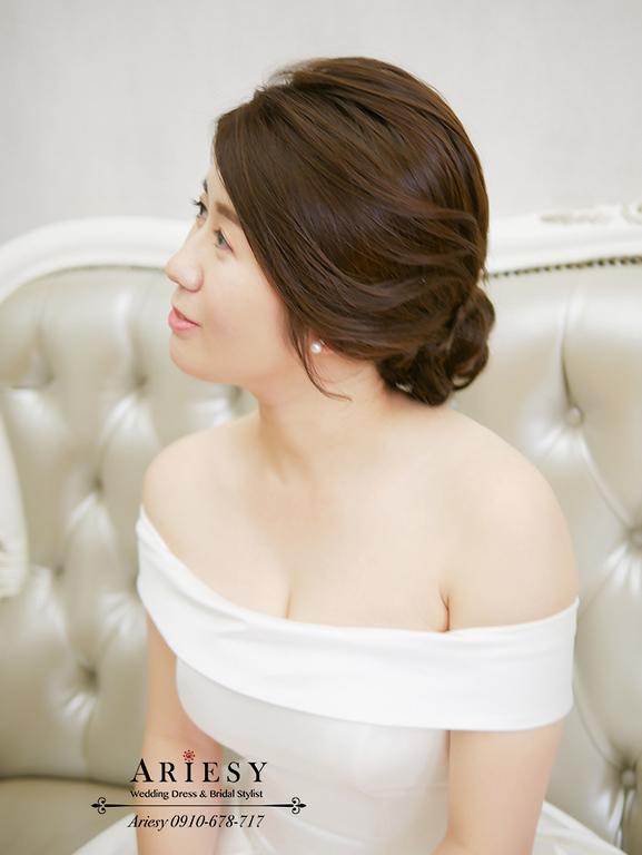 新娘秘書,新秘,台北新秘,短髮新娘,韓風新娘髮,愛瑞思