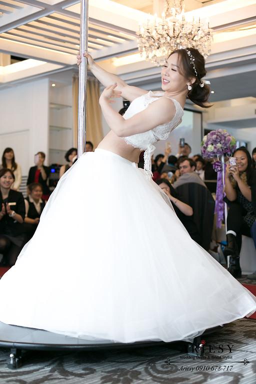 馬尾造型,緞帶造型,新娘髮型,新娘跳舞造型,短髮新娘造型