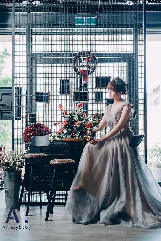 日系妝感,新娘造型,編髮造型,復古造型,自助婚紗