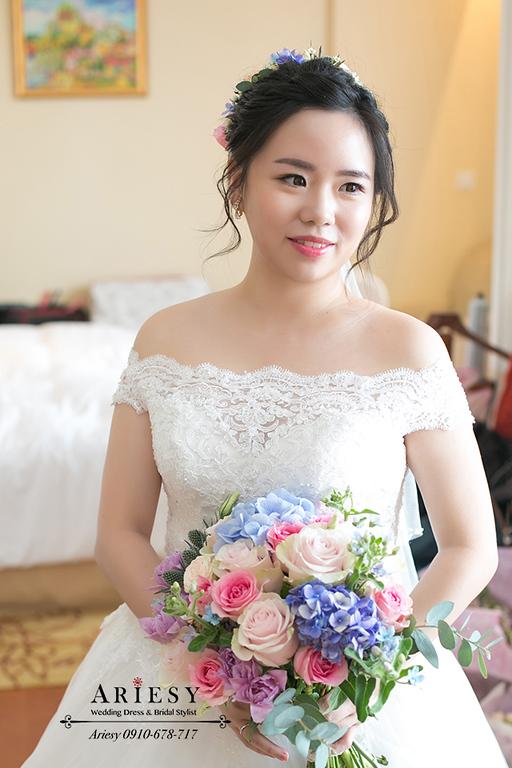 鮮花新娘造型,白紗造型,新娘妝感,大倉久和,新娘捧花,新娘秘書,台北新秘