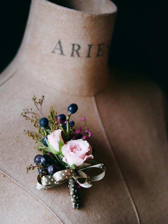 玫瑰胸花,新郎胸花,新娘捧花,粉紅色胸花,美式胸花
