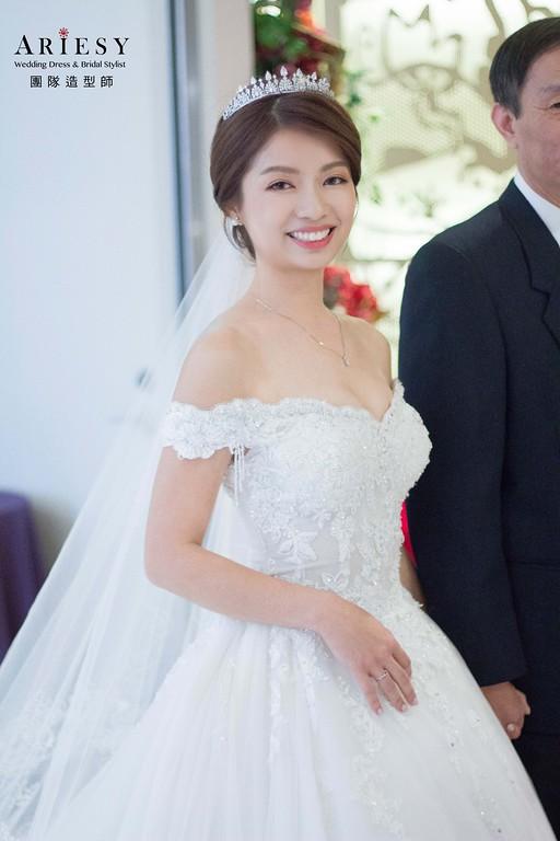 白紗進場新娘造型,愛瑞思,DIBBIE,台北新秘,新娘秘書,新秘推薦
