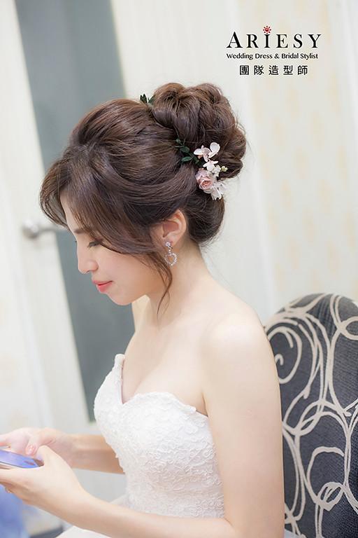 白紗進場新娘造型,愛瑞思,HANYA,台北新秘,新娘秘書,新秘推薦