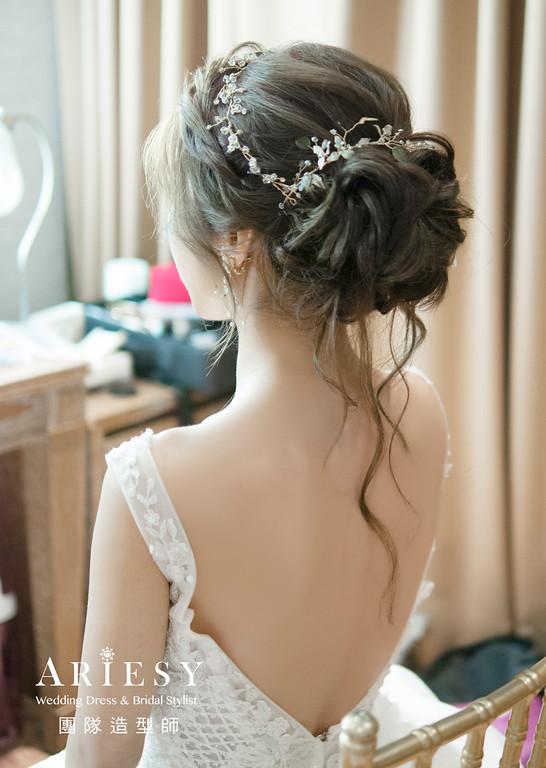 細軟髮新娘造型白紗進場新娘造型,愛瑞思,NICA,台北新秘,新娘秘書,新秘推薦