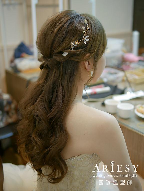 粉紅色禮服新娘造型,愛瑞思,giny,台北新秘,新娘秘書,新秘推薦