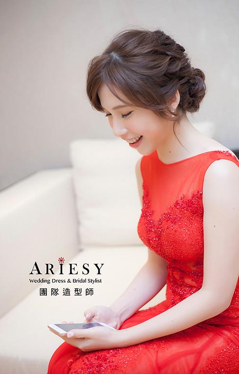 紅色禮服造型,愛瑞思,Hanya,明星妝感,台北新秘,新娘秘書,新秘推薦