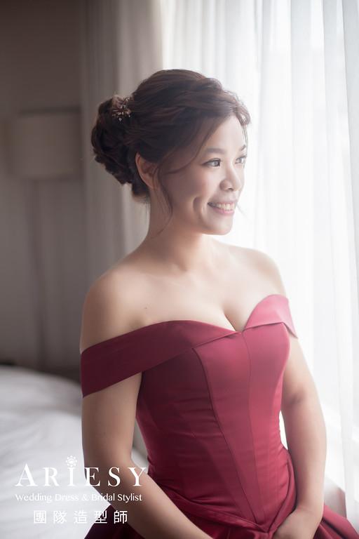 紅色禮服造型,愛瑞思,Giny,明星妝感,台北新秘,新娘秘書,新秘推薦