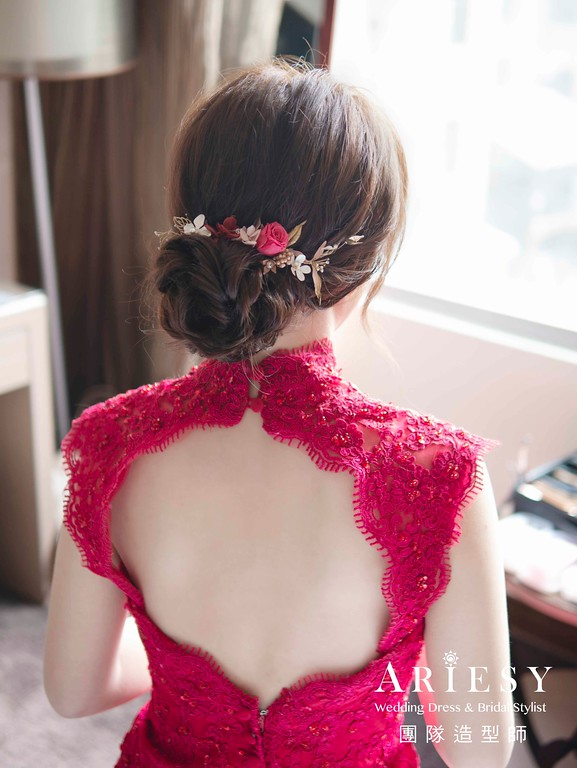 紅色禮服造型,愛瑞思,nica,明星妝感,台北新秘,新娘秘書,新秘推薦
