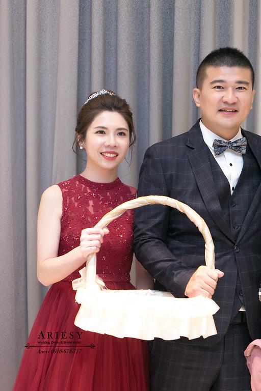 紅色禮服造型,愛瑞思,ariesy,台北新秘,新娘秘書,新秘推薦
