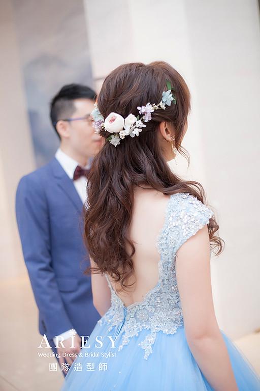 送客新娘造型,愛瑞思,hanya,明星妝感,台北新秘,新娘秘書,新秘推薦