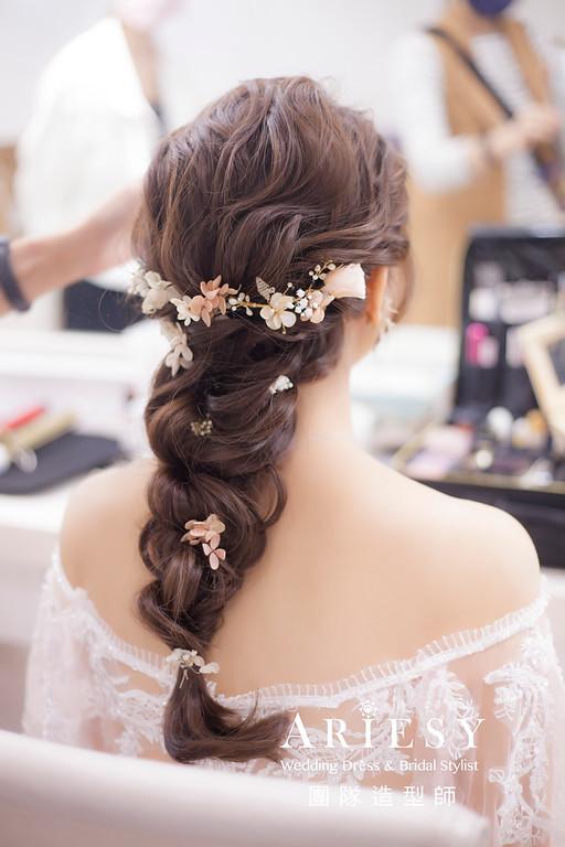 台北新祕,新娘秘書,新娘造型,新娘編髮,自然清透妝感,新娘髮型,新娘編髮造型,推薦新秘