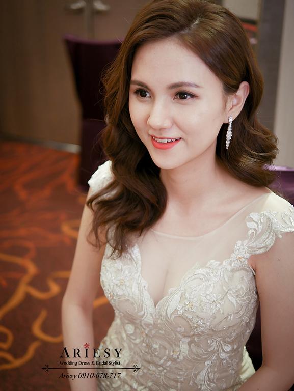 送客新娘造型,愛瑞思新秘,ARIESY,歐美新娘秘書,歐美混血新娘造型,名媛新娘髮型