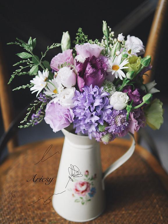 新娘捧花,藍紫色捧花,美式捧花,戶外婚禮捧花,歐美捧花,BOUQUET