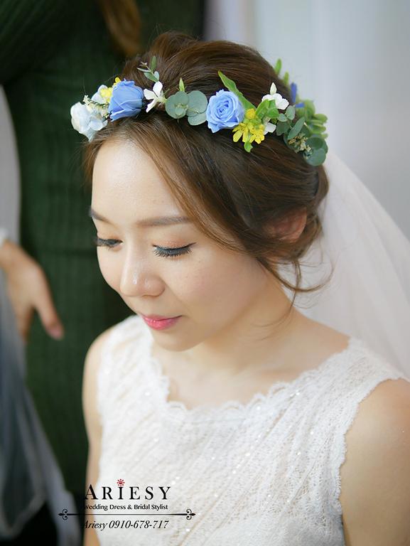 歐美新娘造型,美式新娘秘書,Ariesy,新娘妝髮,歐美捧花,短髮新娘造型,Bouquet