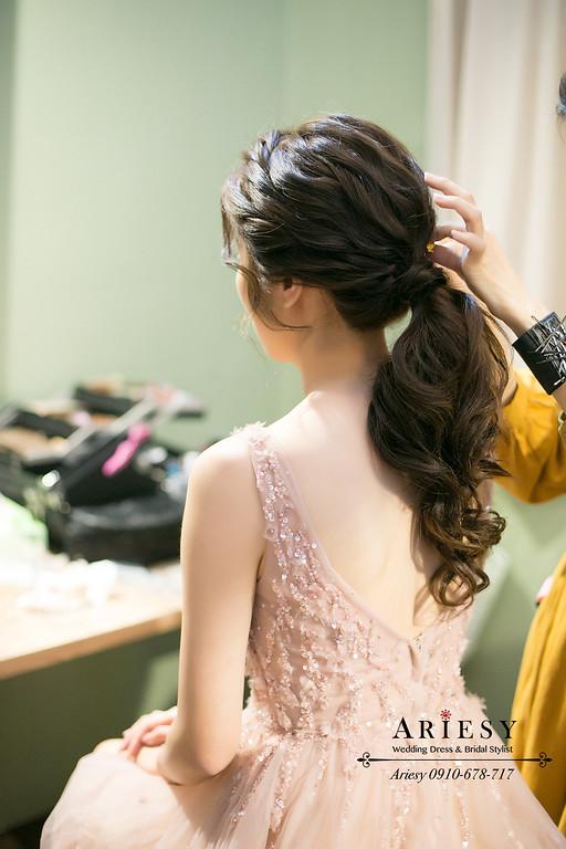 愛瑞思,新秘推薦,美式陽明山,編髮新娘造型,婚禮party,ARIESY