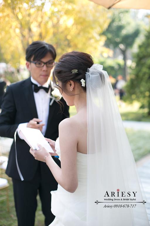 新秘推薦,美式陽明山,戶外證婚儀式,鮮花新娘造型,婚禮party,ARIESY
