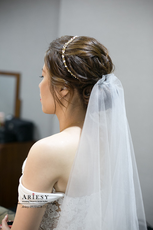 新娘秘書,美式新娘造型,鮮花新娘造型,愛瑞思,ariesy,美式新秘