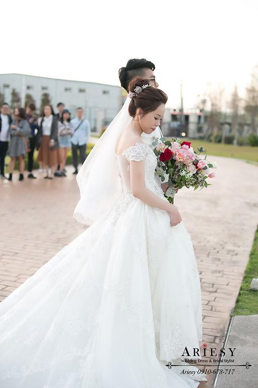 戶外證婚新娘造型,韓風新娘髮型,韓系新娘,愛瑞思,ARIESY,白紗造型