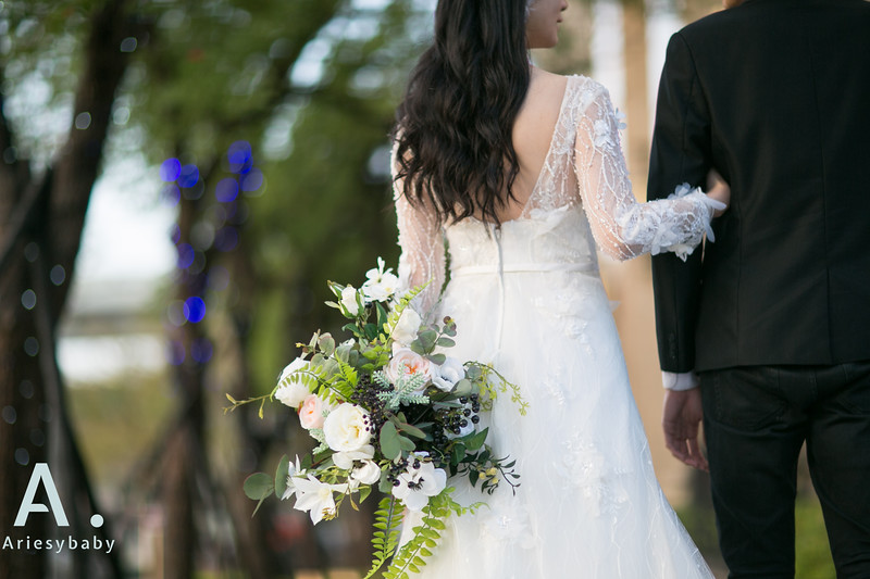 自助婚紗,白紗造型,新娘髮型,黑髮新娘,愛瑞思造型