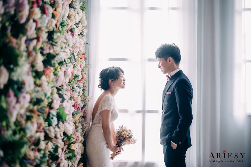 ARIESY手工婚紗,婚攝大嘴,愛瑞思新娘秘書團隊,新莊攝影工作室,小包袖露背魚尾白紗,緞面魚尾晚禮服