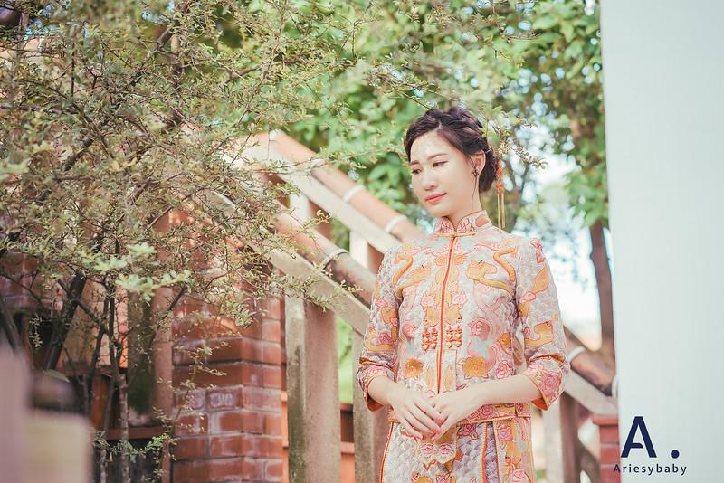 Ariesybaby造型團隊,婚攝大嘴,ARIESY愛瑞思品牌訂製手工婚紗,龍鳳掛造型,復古髮型