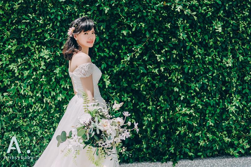 Ariesybaby造型團隊,ARIESY愛瑞思品牌訂製手工婚紗,自助婚紗造型,白紗造型,黑髮短髮髮型
